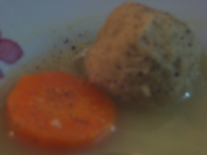 The high-grade crack of matzoh ball soups.