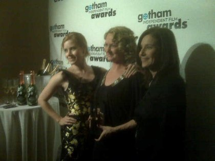 Amy Adams, Melissa Leo, Debra Winger - backstage at the Gotham Independent Film Awards, 2008