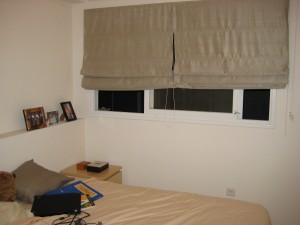 Bedroom window treatment.