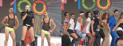 My favorite act was the guys on the left.  Sort of a Marilyn-Manson-but-very-gay thing.  The dancers were phenomenal.