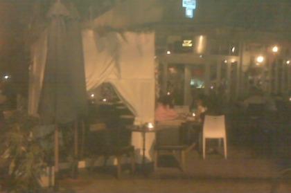 cafe sukkah at Dizengoff & Yiramyahu - this place has amazing a la mode pancakes