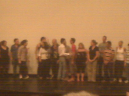the filmmakers and actors all invited to the stage at the end of the night